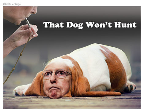 Mitch McConnell as Bastard Hound refuses to respond to whistleblower